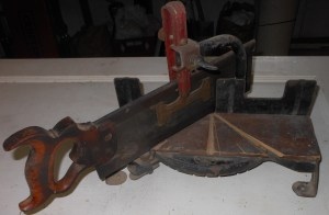 Old Craftsman Miter Box and Saw