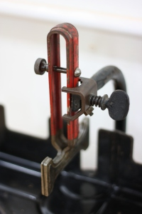Detail Of Saw Guide After Cleaning