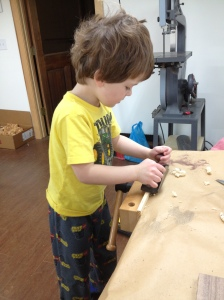 Just like that, his hand plane journey begins...