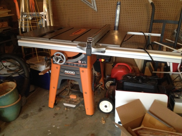 Enjoy your new home, old Ridgid Tablesaw!