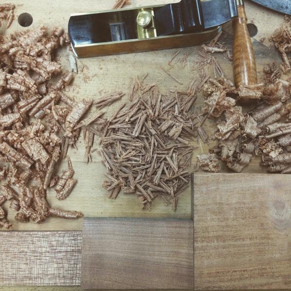 From left to right: QS Spanish Cedar, QS Cuban Mahogany, and QS Honduran Mahogany.