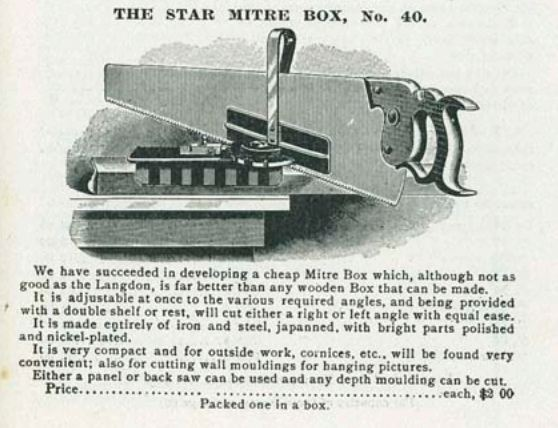 1904 Advertisement of the Star Mitre Box No 40