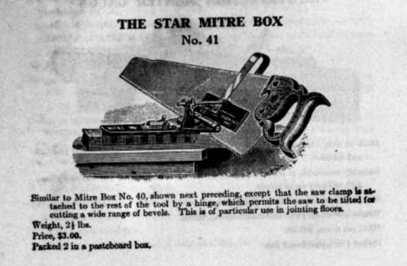 Star Mitre Box No. 41 Advertisement